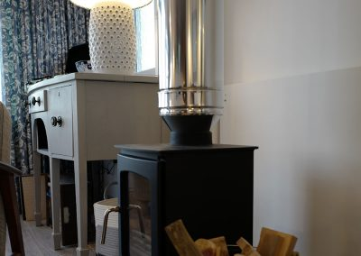A log burner for cosy times indoors